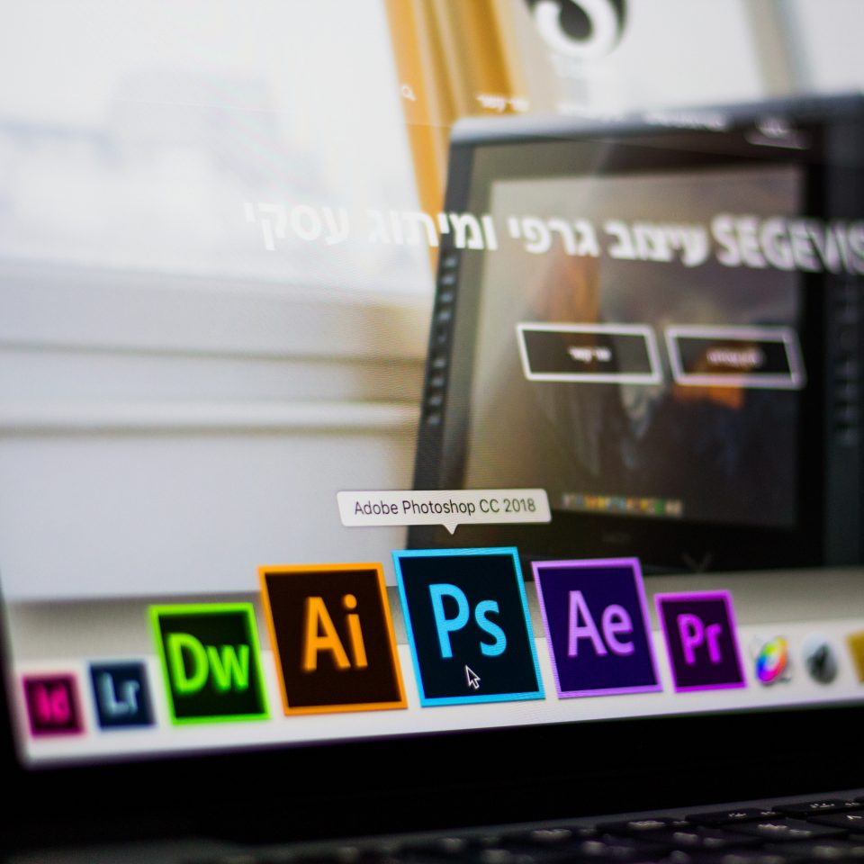 Adobe Creative Cloud apps in a MacBook dock